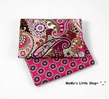Beautiful Vera Bradley Fabric (Very Berry Paisley) —— 2 Matching Fat Quarters