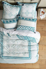 Anthropologie Enmore Embroidered King Duvet cover with 2 King & 2 Euro Shams