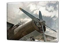 Tin Sign XXL Retro Old aircraft propeller