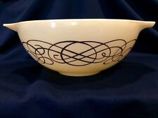 Pyrex Cream Color with Gold Gilt Swirl 4 Quart Cinderella Mixing Bowl 444 #20