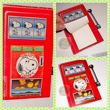 SNOOPY Peanuts by Schulz 80s italy memo pad slot machine- notes sagomato mint