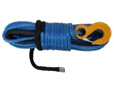 3/8inch*92 feet blue synthetic winch rope cable with thimble sheath G80 hook