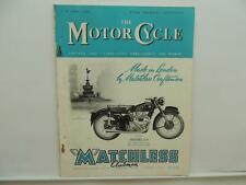 April 1953 THE MOTORCYCLE Magazine Matchless Super Clubman Model G9 L8239