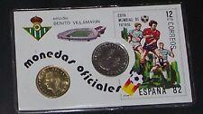 carnet tarjeta estadio BENITO VILLAMARIN, CON 1 - 5 PESETAS - 1980 plastificado