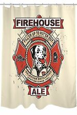 Bentin NEW 'Firehouse Ale' Dalmatian Dog Shower Curtain, $72 Retail