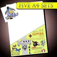 New Temporary Tattoo Transfer Paper - Movie FX - Tattoos Waterproof Inkjet 5set
