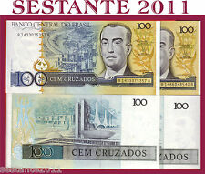 BRAZIL BRASILIEN BRASILE 100 CRUZADOS 1987  P 211b ERRORE,  ERROR NOTE - FDS/UNC