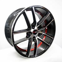 4 GWG Wheels 18 inch Black Red UnderCut Rims fits 5x114.3 ET40 CB74.1