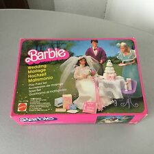 VINTAGE 1983#BARBIE PER MATRIMONIO WEDDING PLAYSET 14936 #NIB RARE