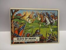1962 T.C.G. Civil War News Card # 22 Wave Of Death The Seven Day June 26th 1862