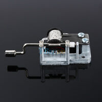Many Songs!Hot Mechanical DIY Tune Hand Crank 18 Notes Music Box Set Movement