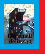 PC ARCADE Project Plans!  FREE Shipping! DIY!  MAME (TM)