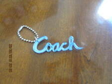 COACH  POPPY SCRIPT FOB/HANG TAG  3 inches long RARE BLUE