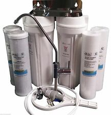 Premium Twin Undersink Water Filter System with Free Designer NSF approved Tap!