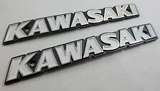 NOS KAWASAKI 1973 Z1900 Fuel Tank Emblem Set Left & Right w/ Screws