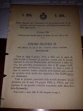 REGIO DECRETO 1902 ESP ESERC ECONOMICO LINEA FERROVIARIA BARLETTA-SPIANAZZOLA