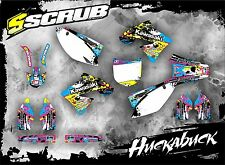 SCRUB DESIGNZ Kawasaki graphics decals kit KX 250f 2006-2008 stickers MX '06-'08