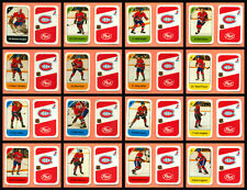 1982-83 Post Cereal Montreal Canadiens Lafleur NHL Hockey Mini Card Set of 16