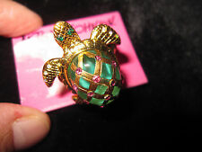 BETSEY JOHNSON SEA EXCURSION TURTLE STRETCH RING SIZE 7 1/2