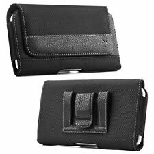 Premium Leatherette Cross Stitch Canvas Pouch Holster For Samsung Galaxy S7 edge