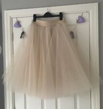 KIRSTY DOYLE NUDE TULLE SKIRT SIZE 8 ASOS BNWT
