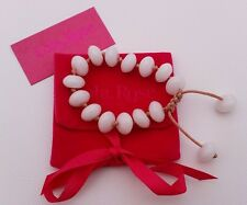 LOLA ROSE 'Laurie' White Sea Shell Marble Chinese knot bracelet *FREE P&P*