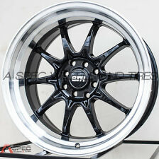 17X9 STR 513 4X114.3 +20 BLACK MACHINED WHEEL FIT NISSAN 240Z 280Z 240SX S13 S14