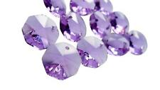 50 Lilac Chandelier Crystal Beads Octagon Prisms Suncatcher Octagons Lavender