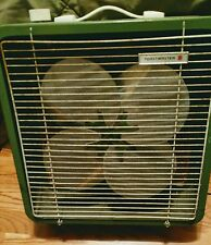 """Vintage 16""""x16""""ToastMaster Olive Green Box Fan"""