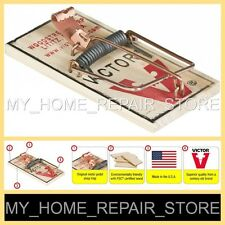 4 FOR $8 !  FREE S&H !  1 PACK OF 4 VICTOR M154 SNAP SPRING REUSABLE MOUSE TRAPS