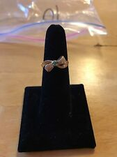 10k Gold Emerald Bow Ring Size 7