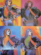 PETER MAX POSTER-JAGGER COLLAGE #1-A COOL AND VERY COLORFUL POSTER-LAST ONES