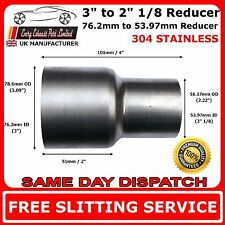 "3"" to 2.125"" Stainless Steel Standard Exhaust Reducer Connector Pipe Tube"