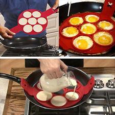 Non Stick Pancake Pan Flip Perfect Breakfast Maker Eggs Omelette Flipjack Tools