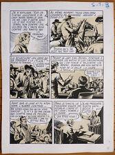 Planche originale 8 de SITTING BULL par DUT pour COQ HARDI Marijac 1950