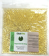 Peppermint Oil 50mg - 1000 Capsules Grip Seal Bag