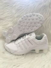 Nike Shox NZ Running Athletic Shoes Leather Trainers 378341-128 White Mens 10.5