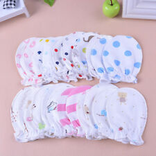 6PCS Newborn Boys Girls Infant Soft Cotton Handguard Anti Scratch Mittens Gloves