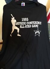 Lot 2 Vintage 1995's BAYSIDE CONFERENCE ALL-STAR GAME Thin T Shirt. Size XL