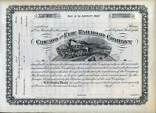 Chicago & Erie Railroad Company Stock Certificate