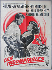 Affiche LES INDOMPTABLES The Lusty Men ROBERT MITCHUM Susan Hayward 60x80cm 1952