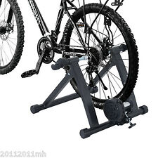 Magnetic Bike Bicycle Indoor Trainer Stand Cycling Exercise Sporting Black