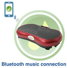 Red Mini Crazy Fit Full Body Vibration Platform Massage Machine w/ Bluetooth MP3