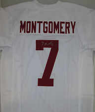 Stanford Cardinals Receiver TY MONTGOMERY Signed Away Custom Jersey AUTO