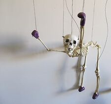 """SKELETON MARIONETTE PUPPET 17"""" WITH STRINGS AND 8-STRING CONTROLLER 16-11-25"""