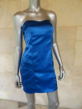 BCX New Blue Satin Strapless Clubwear Party Prom Mini Dress Sz 3 NWT