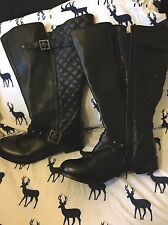 SOLE DIVA WIDE CALF QUILTED BOOTS SIZE 8