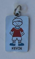 Kevin NAME CHARM dog tag pendant zipper pull key chain flair