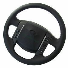 Black napa perforated leather steering wheel upgrade for Land Rover Discovery 3