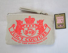 NEW Juicy Couture Coin Bag Canvas Neon Orange Scottie Dog BIG SALE MAKE OFFER
